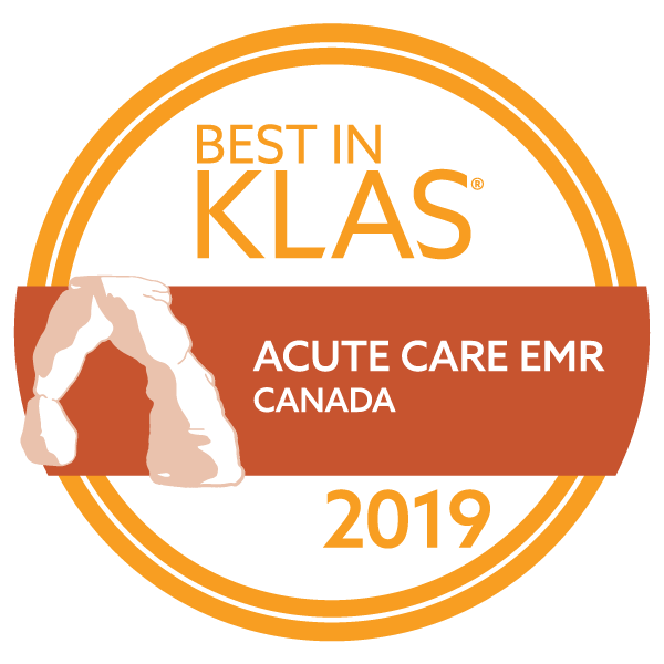 2019 Best in KLAS -- MEDITECH -- acute care EMR -- Canada award logo