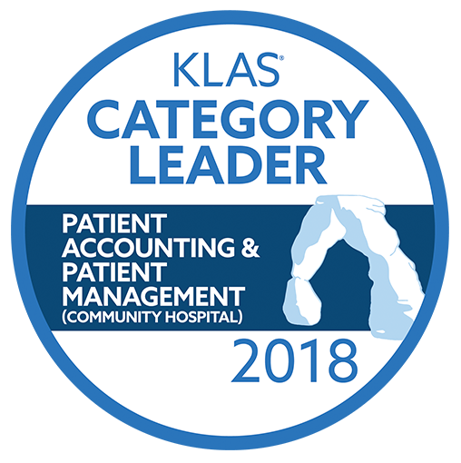 2018 KLAS award - Category Leader for Patient Accounting & Patient Management