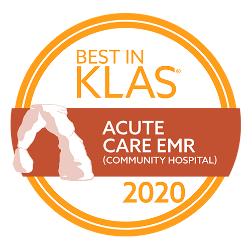 KLAS 2020 Award for Acute Care logo