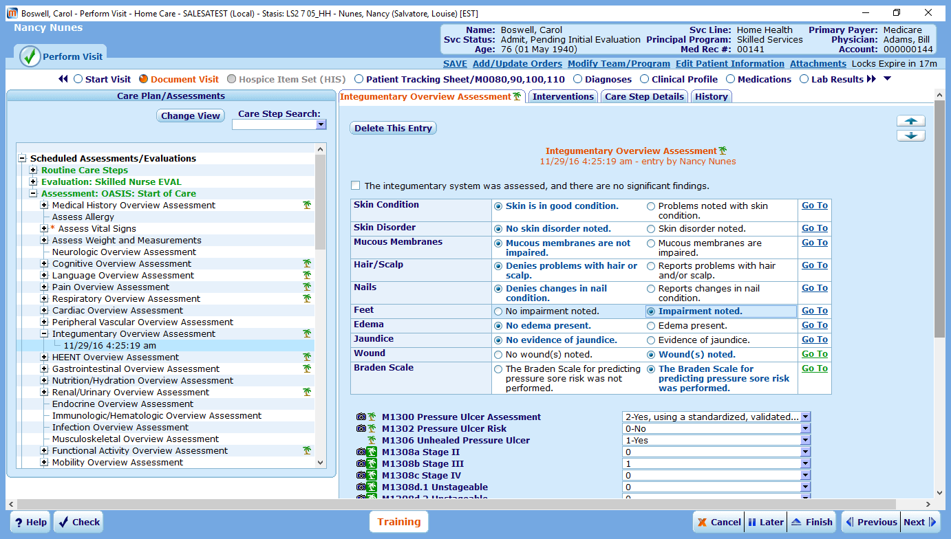 MEDITECH Staff Immunization Record Screenshot