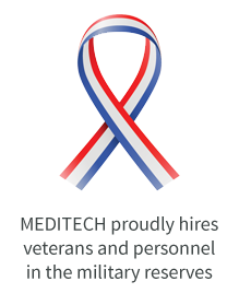 red, white and blue ribbon graphic