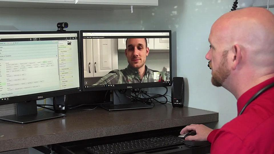Med Center Health Virtual Visits Video Overlay